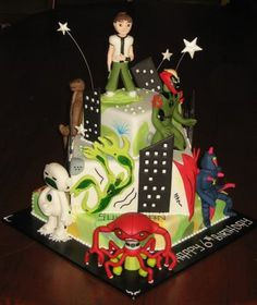 Ben 10 Birthday Cake. There aren't any words. I.Love.This.Cake.
