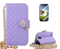 S4 Case,Samsung Galaxy S4 Case,Welity Camellia Bling Rhinestone Diamond Buckle Peral Wristlet Chain Premium PU Leather Flip Folio Book Style Wallet Protector Skin Pouch Phone Case & Magnetic Closure [Credit/ID Card Slot] [Kickstand Feature] [and One Gift] Compatible with Case Cover for Samsung Galaxy S4 i9500 Verizon/AT&T/Sprint/T-Mobile Lilac Welity Samsung Case<<< http://www.amazon.com/dp/B00YIV6704/ref=cm_sw_r_pi_dp_mTX9vb0QG5B3N
