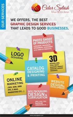 We provide a wide range of Graphic Designing services, and ably translate your thoughts and ideas into creative graphic designs that bring out superior results.We are updated with the latest graphic designing trends and predictions of the future and help our clients to stay updated with the latest designs.  #ColorSplash #TopGraphicDesigningComapny #CSDelhi #GraphicDeigning #Branding #Creativity