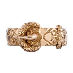 Late Victorian Buckle Ring