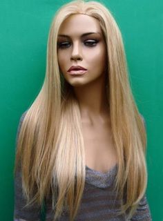 New Boutique Charming Long Silky Straight Blonde Full Lace Wig Human Remy Hair about 22 InchesGet unbelievable discounts up to Off at Wigs with coupon and Promo Codes. Real Hair Wigs, Short Hair Wigs, Human Hair Wigs, Blond Ombre, Blonde Wig, Curly Lace Front Wigs, Lace Wigs, Frontal Hairstyles, Wig Hairstyles