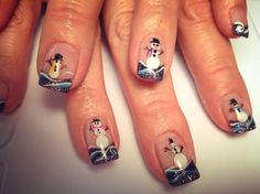 Happy Snowmen - Nail Art Gallery by www.nailsmag.com #nailart