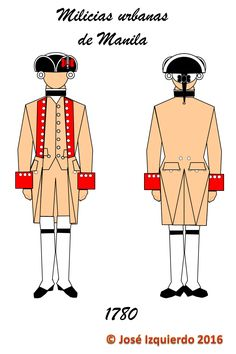 Milicias Urbanas de Manila (tropa), 1780