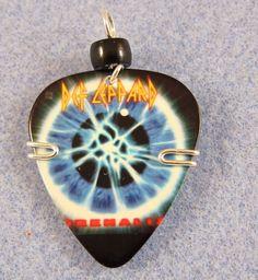 Def Leppard Guitar Pick Pendant. www.twistedpicks.com
