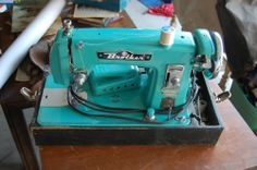 Turquoise Brother sewing machine