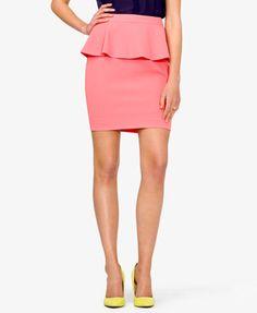 Textured Peplum Skirt | FOREVER21 - 2000049689