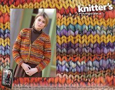 Autumn Sunset pattern by Rick Mondragon | malabrigo Twist, Rios and Caracol in Sunset, Volcan, Piedras and Flama | Published in Knitter's Magazine 124, Fall 2016