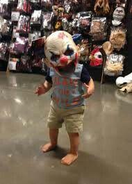 Baby clown halloween