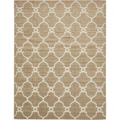 Transitional Light Brown 9 ft. x 12 ft. Area Rug