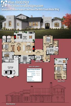 The Home Decor Guru – Interior Design For Bedrooms 3d House Plans, Bedroom House Plans, Dream House Plans, Modern House Plans, Modern House Design, Home Decor Bedroom, Villa Plan, Sims House, House Layouts