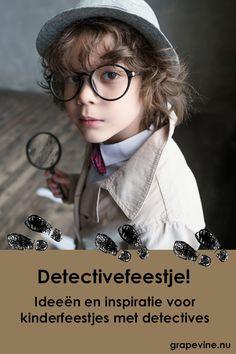 Ideeën en inspiratie voor kinderfeestjes met detectives!  #kinderfeestje #detectivefeestje #detective #spelletjes