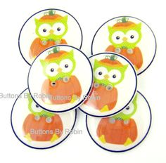 Halloween Buttons. 3/4 or 20 mm Halloween by buttonsbyrobin, $11.99