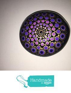 Hand Painted Mandala Stone #111 from Mafa Stones http://www.amazon.com/dp/B01D0AHVJY/ref=hnd_sw_r_pi_dp_vdC6wb0SN4EHE #handmadeatamazon