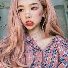 Halloween make up ulzzang girl //Kim yoon rei Korean Girl Cute, Korean Girl Ulzzang, Pelo Ulzzang, Ulzzang Girl Fashion, Style Ulzzang, Couple Ulzzang, Ulzzang Girl Selca, Pretty Asian Girl, Ullzang Girls