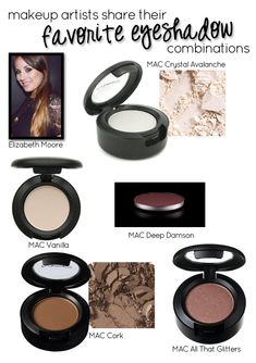 The Favorite Eye Shadow Combos of Makeup Artist Elizabeth Moore via @15 Minute Beauty