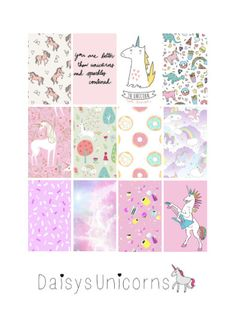 MAMBI Planner Stickers-Unicorn theme by DaisysUnicorns on Etsy