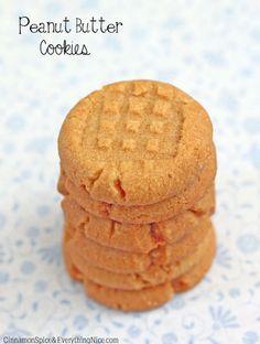 Flourless 4-Ingredient Peanut Butter Cookies