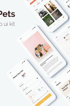 Social Pets App is a high-quality UI Kits pack of Social media based app screens which will help you develop an app with outstanding designs. This kit is Unique Animals, Animals For Kids, Travel Website Templates, Android Tutorials, App Design Inspiration, App Ui Design, App Development, Pets, Layers