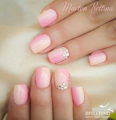 Rose colored nails