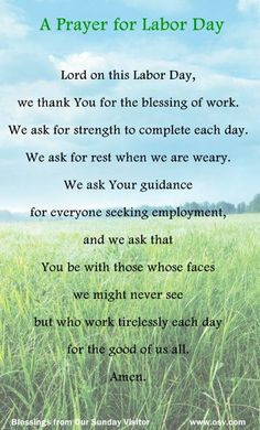 Let's start today with a Labor Day Prayer! Be Blessed, Cherokee Billie Spiritual Advisor Labor Day Pictures, Labour Day Wishes, Labor Day Quotes, Spiritual Advisor, Biblical Verses, Scriptures, Bible Verses, Happy Labor Day, Happy Quotes