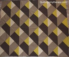 I love quilts that create optical illusions.