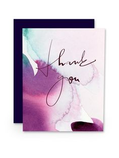 water color thank you cards - Google Search