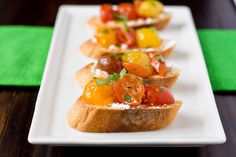 Roasted Tomatoes and Goat Cheese Crostini by Courtney   Cook Like a Champion, via Flickr