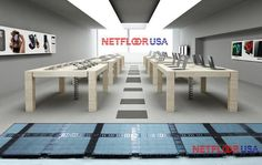 Access Floor in a Retail Store Cable Management, Policy Management, Floor Finishes, Floor Design, Your Space, Dining Bench, Flooring, Contemporary, Usa