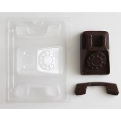 3-D retro telephone chocolate candy molds Cakegirls