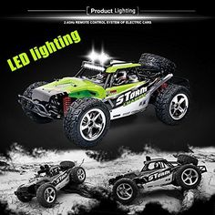 RC Cars Toy Buggy 4x4 Off Road Trucks Remote Control LED Night Lights Fast 4WD #RCToys