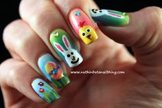 Apr 2020 - 9 Simple Easter Nail Art Designs With Pictures Easter Nail Designs, Easter Nail Art, Nail Art Designs, Red Nail Polish, Red Nails, Hair And Nails, Christmas Nail Art, Holiday Nails, Manicure E Pedicure