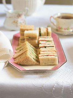 5 Tea Sandwich Filling Ideas: Hosting a tea party or themed baby or bridal shower? Then these delectable tea sandwich ideas are a must! Afternoon Tea Recipes, Afternoon Tea Parties, Tea Sandwiches, Finger Sandwiches, Sandwich Fillings, Sandwich Recipes, Cold Appetizers, Appetizer Recipes, Appetizer Ideas