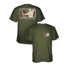 Major League Bowhunter green/camo shirt