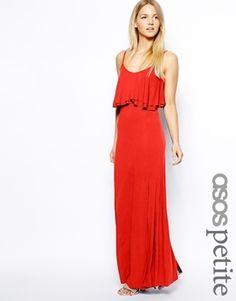ASOS Petite ASOS PETITE Maxi Dress with Crop Top - Purple
