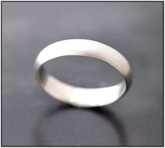 Matte Platinum Mens Wedding Band