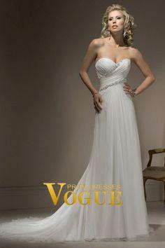 New Arrival Wedding Dresses Sheath/Column Sweetheart Court Train Chiffon USD 218.80 PG7Z1PH4 - VoguePromDresses