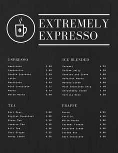 Use this customizable Black Textured Simple Coffee Drink Menu template and find more professional designs from Canva. Coffee Shop Menu, Coffee Shop Design, Menue Design, Cafe Menu Design, Coffee Shop Aesthetic, Coffee Jelly, Coffee Stands, Drink Menu, Strawberries And Cream