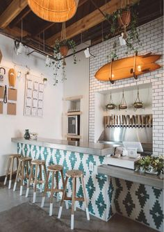 12 Beautiful Bohemian Style Kitchen Decoration Ideas ~ My Dream Home Logo Restaurant Design, Architecture Restaurant, Modern Restaurant, Brewery Design, Cozy Restaurant, Colorful Restaurant, Farmhouse Restaurant, Restaurant Specials, Restaurant Restaurant
