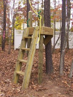 Simple Tree Houses the treehouse ~ mom and her drill very simple, easy-to-build tree
