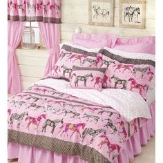 Floral Mustang Bed in a Bag - Horse Themed Gifts, Clothing, Jewelry & Accessories all for Horse Lovers   Back In The Saddle--for C!