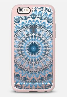 SONAR MANDALA IN BLUE - CRYSTAL CLEAR PHONE CASE iPhone 6s case by Nika Martinez…