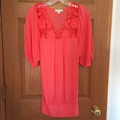 "twentyone shirt About 31"" long from top of shoulder to bottom.  Pinkish, coral color.  Only worn a few times, excellent condition!  Size M, the brand is twentyone.  The material is 100% Modal.  It feels like super soft cotton!  No trades or modeling.  Bundle to save!! twentyone Tops"