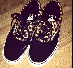 Black and leopard print vans Leopard Print Vans 4ebf60c2b1