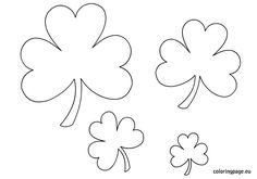 Shamrock templates | Coloring Page