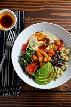 Vegan Quinoa Power Bowls with Avocado and Smoked Paprika Vinaigrette