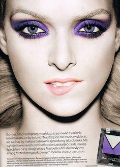 Party purple makeup makeup