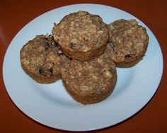 Clean Eating Applesauce Oatmeal Muffins