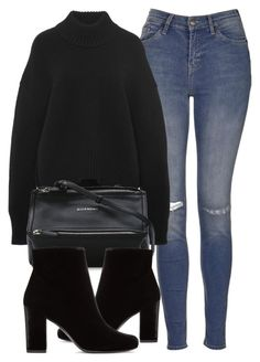 """Untitled #6133"" by laurenmboot ❤ liked on Polyvore featuring Topshop, Brock Collection, Givenchy and Yves Saint Laurent"