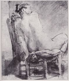 Rembrandt - A Studio With a Seated Female