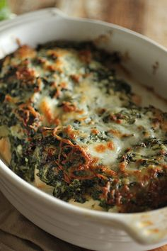 Clean Eating Spinach Artichoke Baked Chicken!